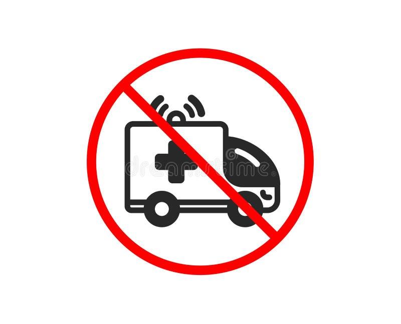 Ic?ne de voiture d'ambulance Signe de transport de secours m?dical Vecteur illustration libre de droits