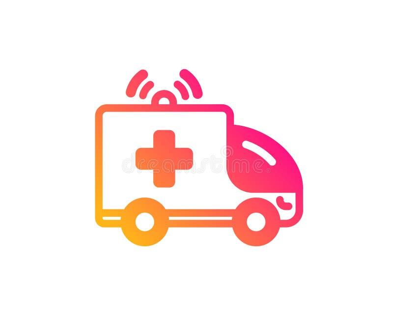 Ic?ne de voiture d'ambulance Signe de transport de secours m?dical Vecteur illustration stock