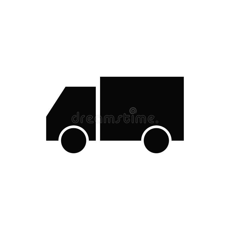Ic?ne de voiture de service de distribution Signe de la livraison Icône de camion dans le style plat à la mode d'isolement sur le illustration libre de droits