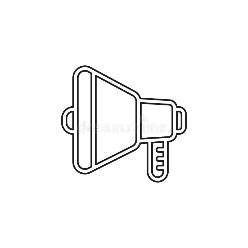 Ic?ne de volume de haut-parleur - symbole sain de voix audio illustration stock