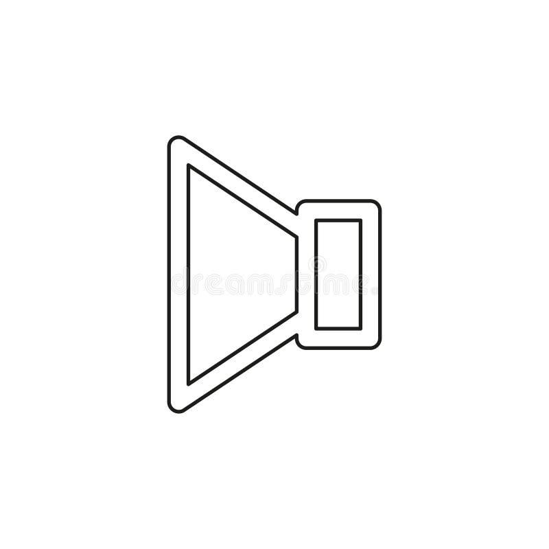 Ic?ne de volume de haut-parleur - symbole sain de voix audio illustration libre de droits