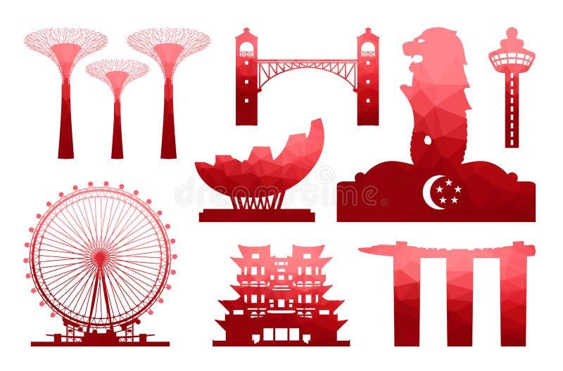 Icône de voyage de Singapour