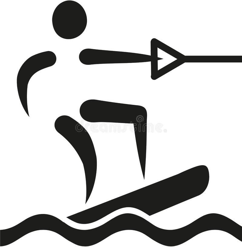 Icône de Wakeboarding illustration stock