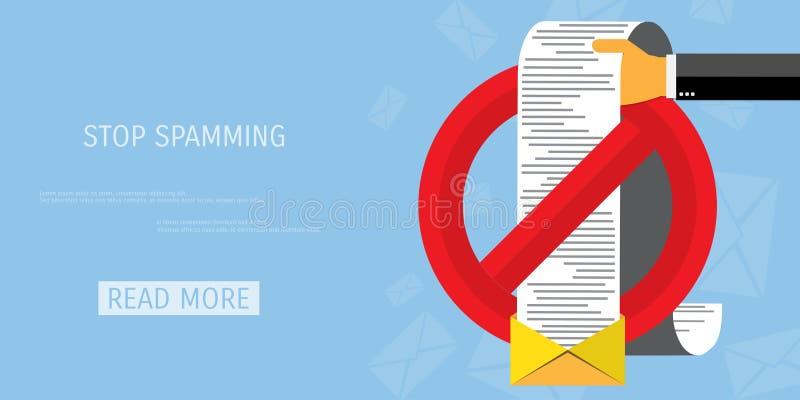Icône de Web de Spamming de vecteur illustration libre de droits