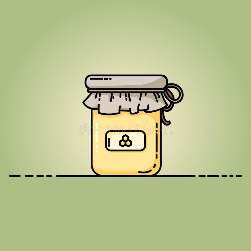 Ic?ne de Web de pot de miel Illustration de vecteur dans le style plat illustration de vecteur