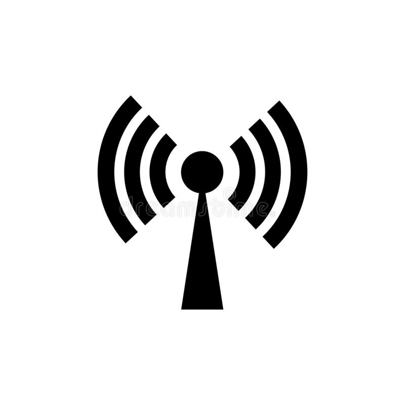 Ic?ne de Wi-Fi Vecteur d'ic?ne d'Internet illustration de vecteur