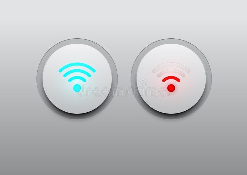 Icône de wifi de LED image libre de droits