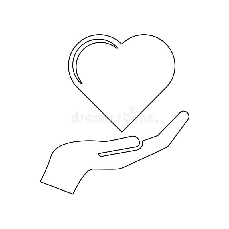 Ic?ne disponible de coeur ?l?ment de l'amour pour le concept et l'ic?ne mobiles d'applis de Web Contour, ligne mince ic?ne pour l illustration de vecteur