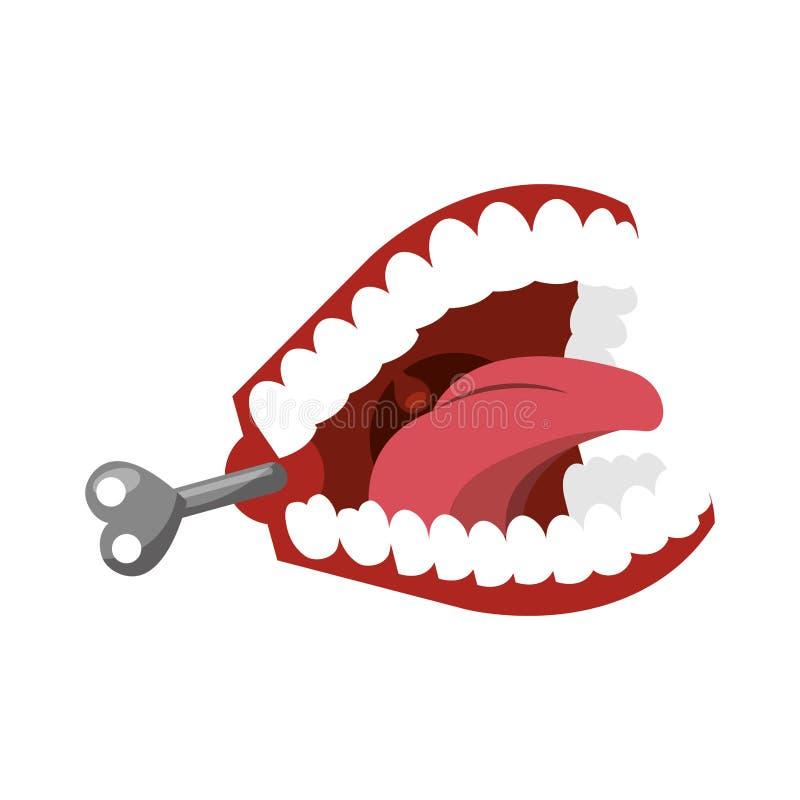 Icône drôle de dents de plaisanterie illustration stock