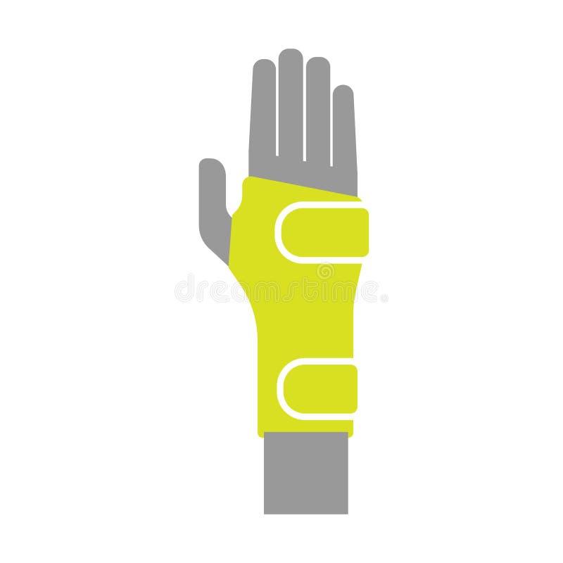 Icône du bandage de compression orthopédique élastique pour illustration de vecteur