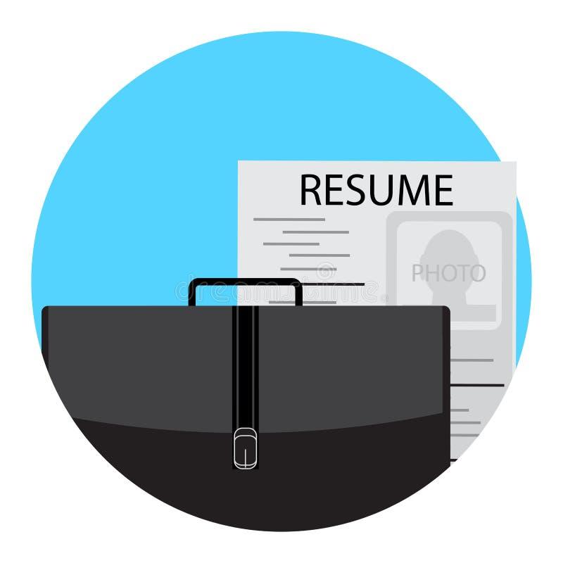 Icône du chômage plate illustration libre de droits