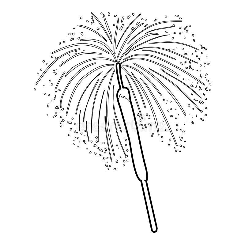 Icône du feu du Bengale, style d'ensemble illustration libre de droits