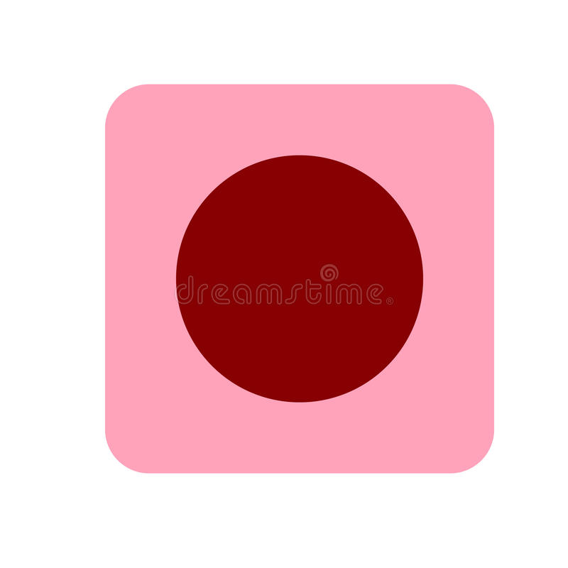Icône du site Web REC Style plat Illustration de vecteur Icône rose et rouge illustration libre de droits
