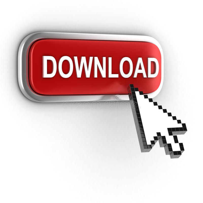 Icône du téléchargement 3d illustration libre de droits