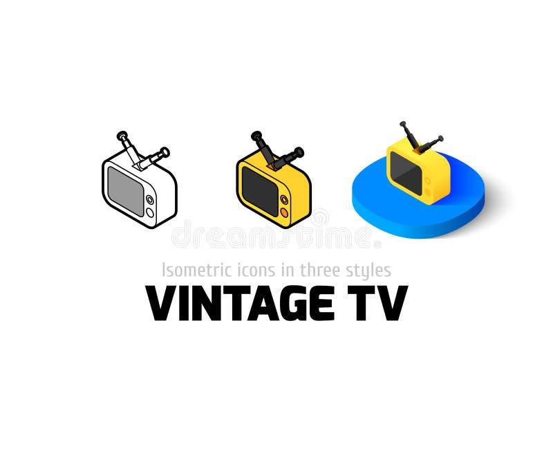 Icône du vintage TV dans le style différent illustration libre de droits