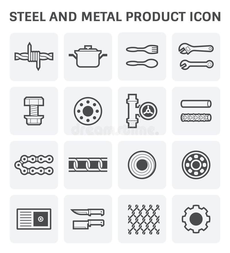 Icône en acier en métal illustration stock