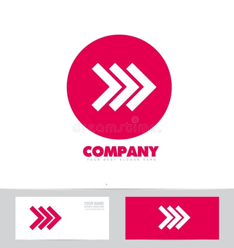 Icône en avant de logo de rose de concept de flèche illustration de vecteur