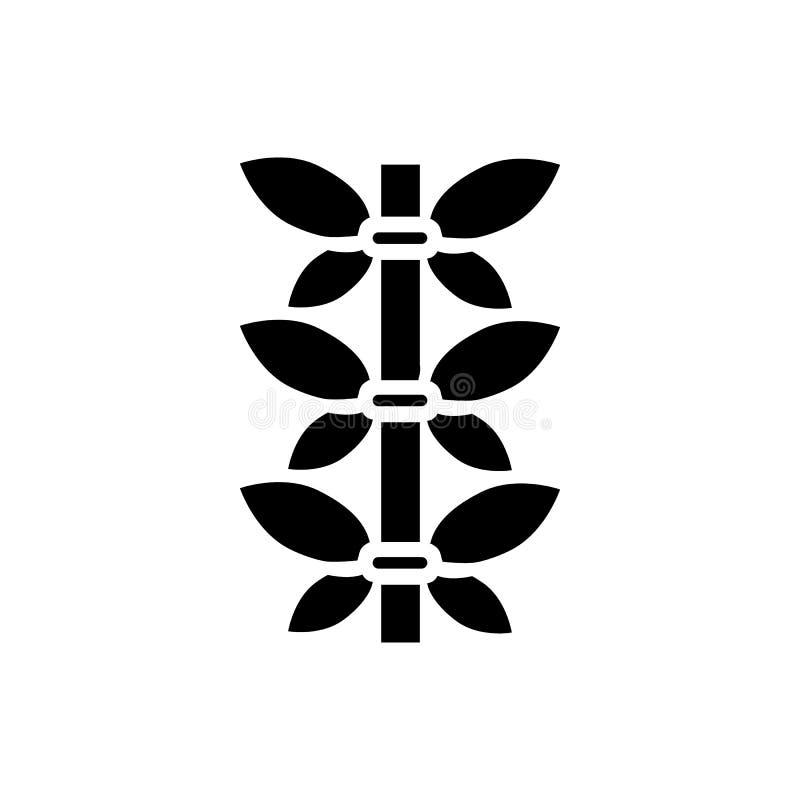 Icône en bambou de tige, style simple illustration de vecteur