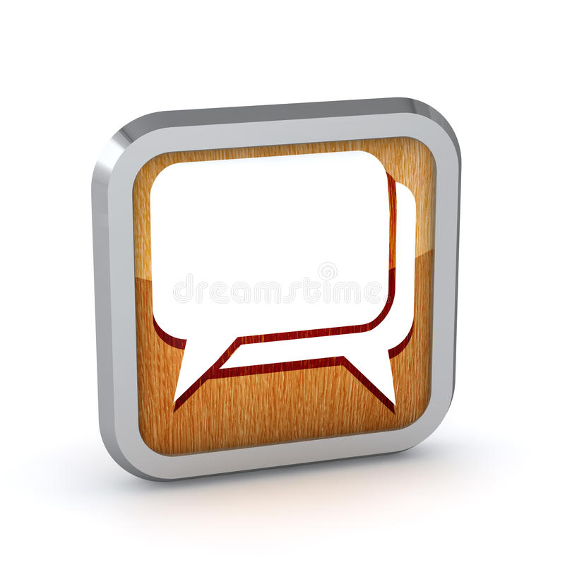 Icône en bois de dialogue illustration stock