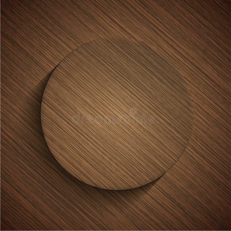 Icône en bois moderne de vecteur illustration de vecteur