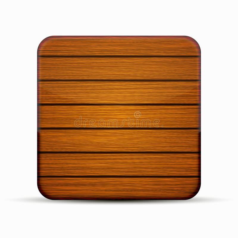 Icône en bois moderne de vecteur sur le blanc illustration de vecteur