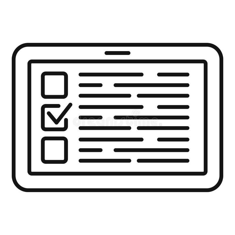 Ic?ne en ligne de vote, style d'ensemble illustration libre de droits