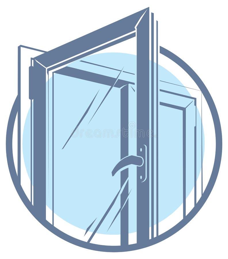 Icône en plastique de fenêtre de PVC de vecteur illustration de vecteur