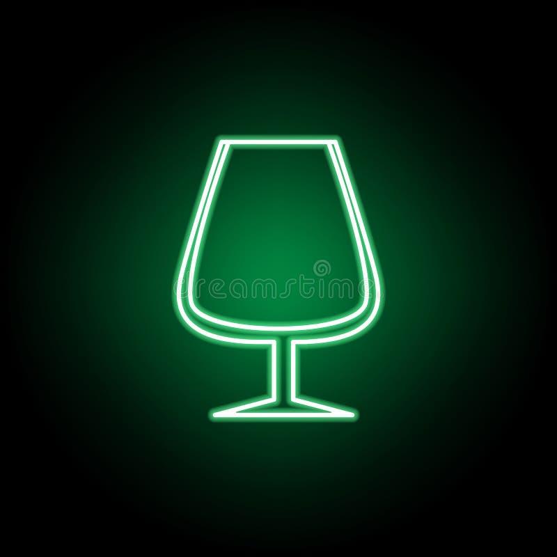 Ic?ne en verre de gobelet Peut ?tre employ? pour le Web, logo, l'appli mobile, UI, UX illustration stock