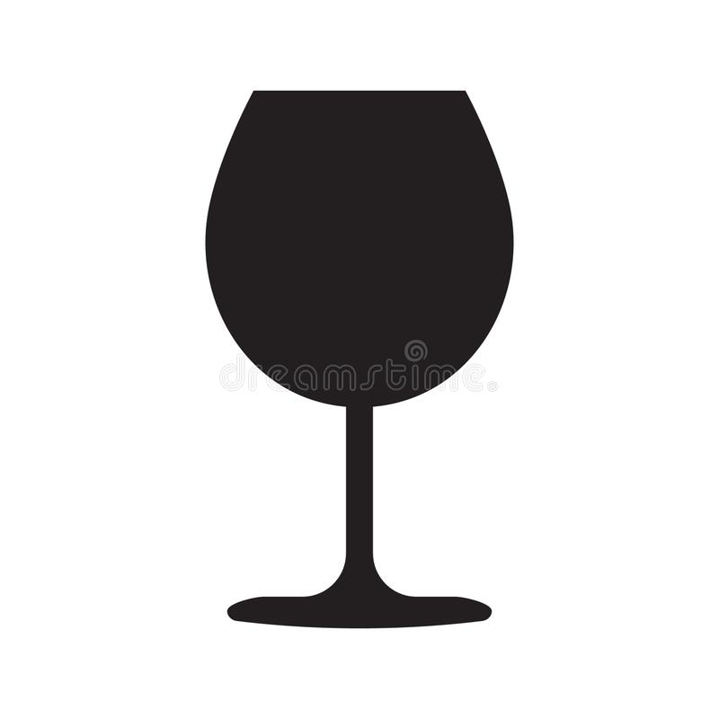 Ic?ne en verre de vin illustration libre de droits