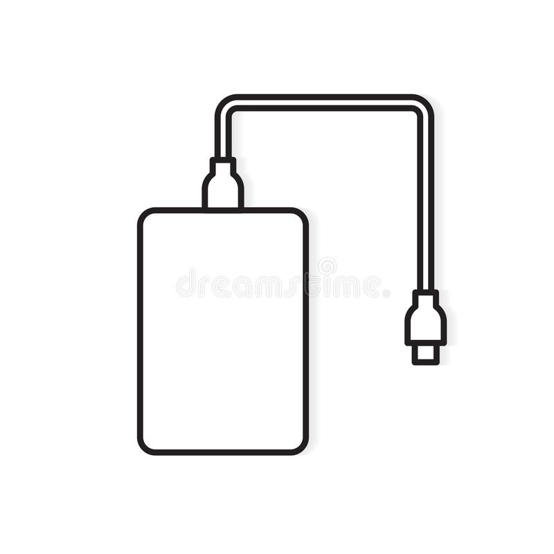 Ic?ne externe d'unit? de disque dur illustration stock