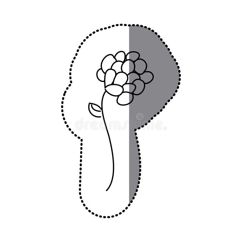Download Icône Florale De Fleur De Silhouette D'autocollant Illustration Stock - Illustration du lame, branchement: 87704333