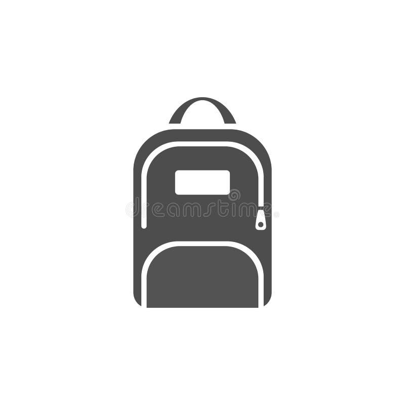 Icône foncée de sac à dos illustration stock