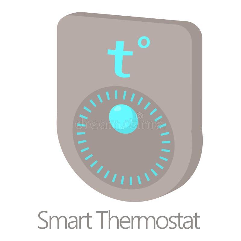 Icône futée de thermostat, style de bande dessinée illustration stock