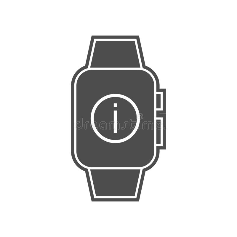 ic?ne fut?e d'arrangement de montre ?l?ment de minimalistic pour le concept et l'ic?ne mobiles d'applis de Web Glyph, ic?ne plate illustration libre de droits