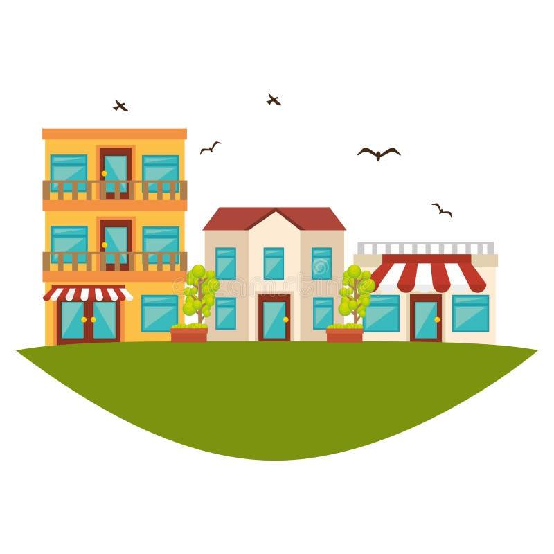 Icône gentille de rue de voisinage illustration libre de droits