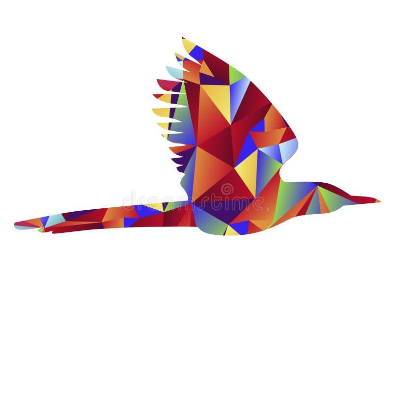 Icône globale d'oiseau illustration stock