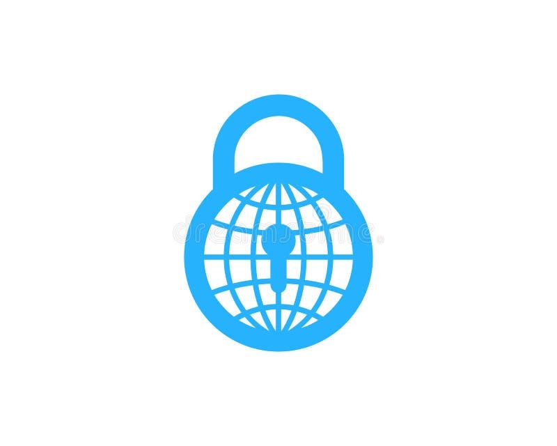 Icône globale Logo Design Element de sécurité internationale illustration de vecteur