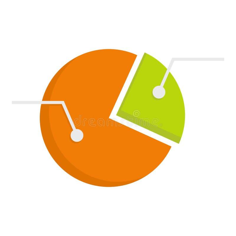 Icône graphique de diagramme de tarte coloré d'isolement illustration stock