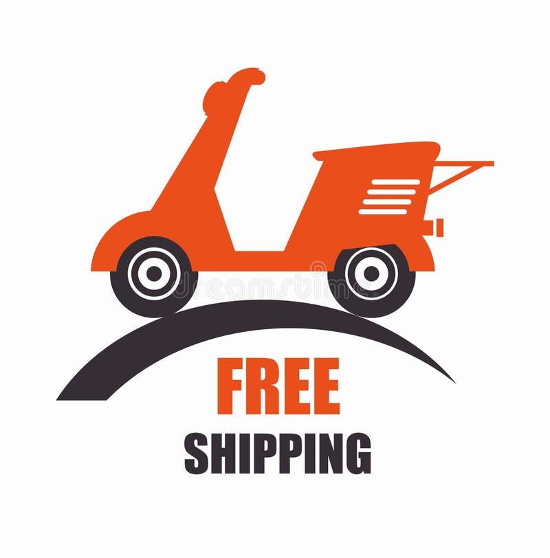 icône gratuite de la livraison de scooter de moto illustration de vecteur