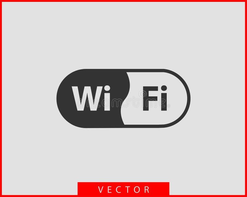 Ic?ne gratuite de WI fi Symbole de vecteur de wifi de zone de connexion Signal d'ondes radio illustration de vecteur