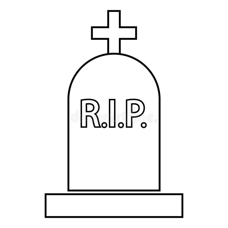 Icône grave illustration stock