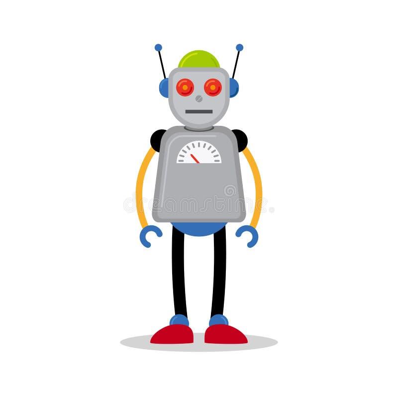 Icône grise de robot illustration libre de droits