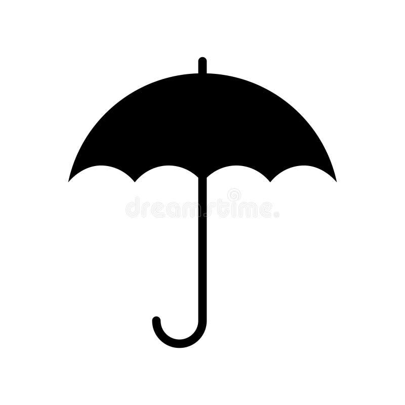 Ic?ne grise graphique de parapluie illustration de vecteur