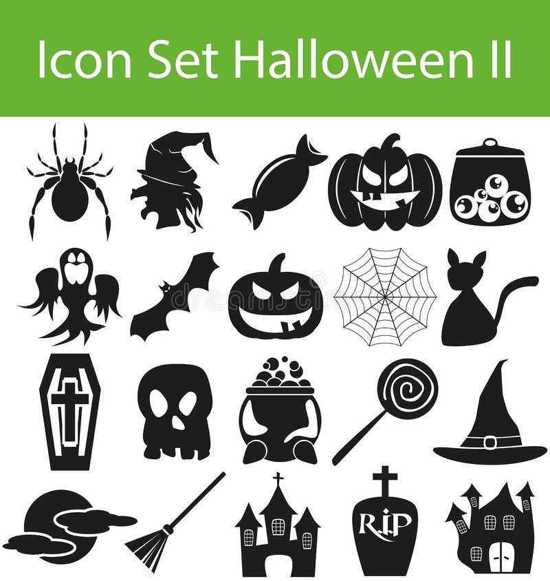 Icône Halloween réglé II illustration libre de droits