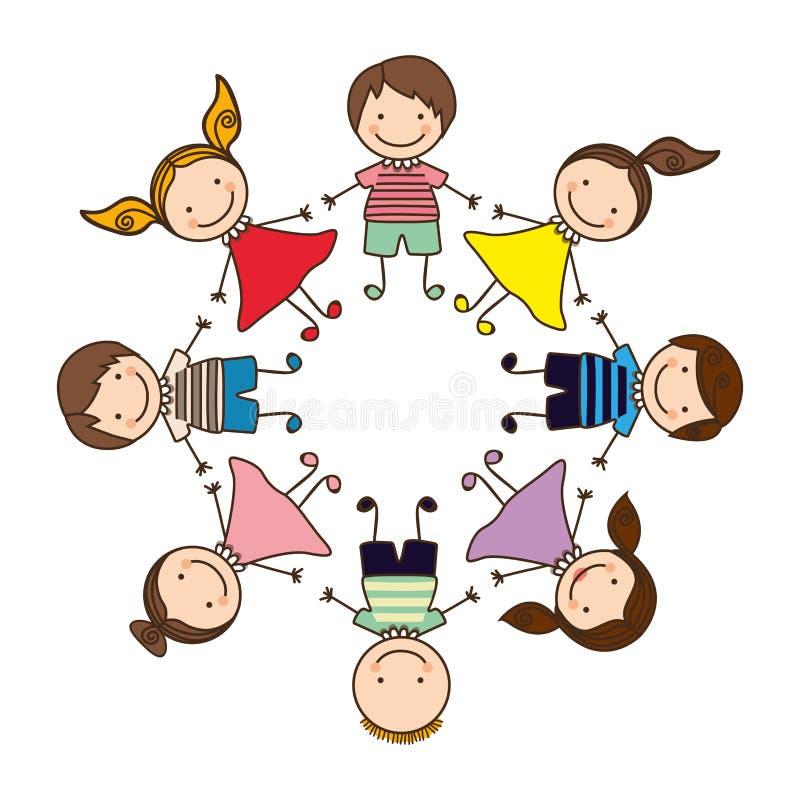 icône heureuse de jeu d'enfants illustration de vecteur