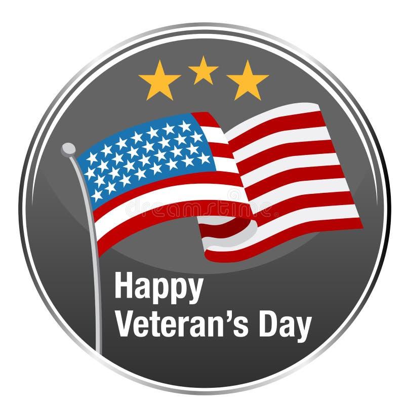 Icône heureuse de jour de vétérans illustration libre de droits