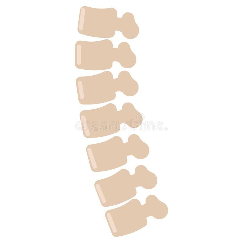 Icône humaine d'épine, illustration de vecteur illustration stock