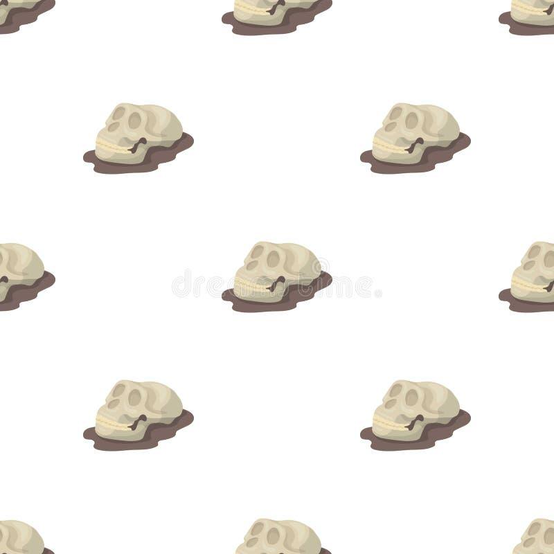 Icône humaine de fossiles illustration stock