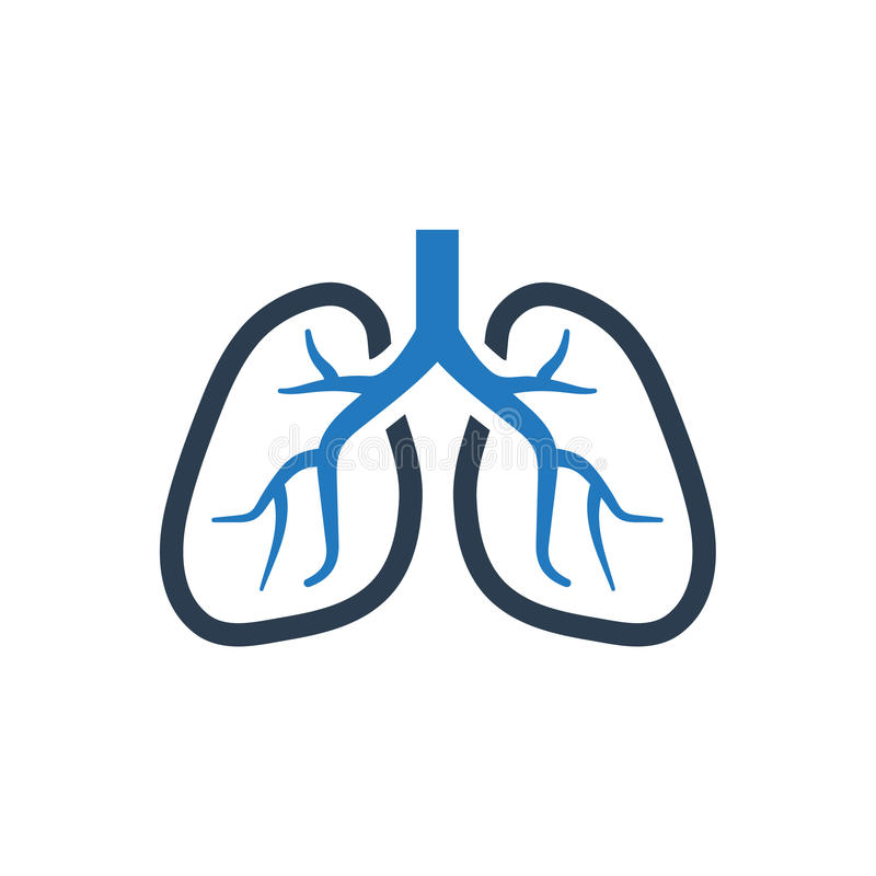 Icône humaine de poumons illustration stock