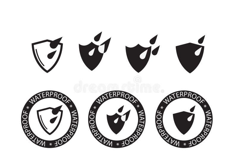 Icône imperméable, icône de protection des eaux - dirigez l'illustration illustration stock